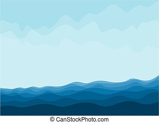 Deep blue sea. - A sea landscape with blue waves.