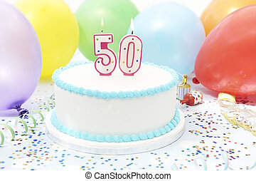 Cake Celebrating 50th Birthday