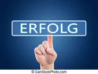 Erfolg - german word for success or achievement - hand...