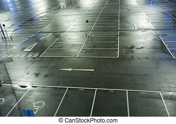 Compressed view of parked cars in car park