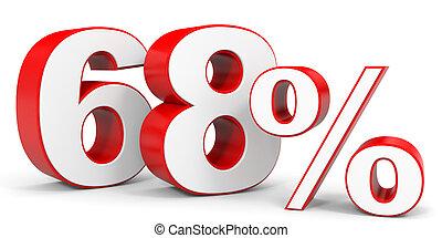 Discount 68 percent off. 3D illustration.