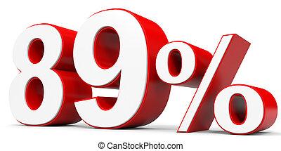 Discount 89 percent off. 3D illustration.