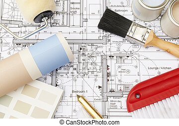 Decorating Components Arranged On House Plans