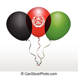 Balloons in Vector as National Flag
