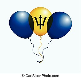 Balloons in Vector as Flag - Balloons in Vector as Barbados...