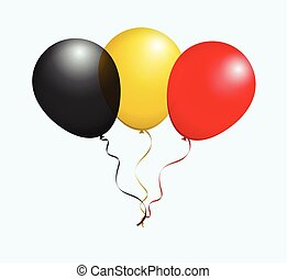 Balloons in Vector as Flag - Balloons in Vector Black Yellow...