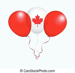 Balloons in Vector as Flag - Balloons in Vector White Red as...