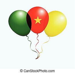 Balloons in Vector as Flag - Balloons in Vector as Cameroon...