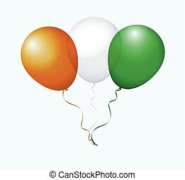 Balloons in Vector as Flag - Balloons in Vector as Cote...