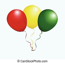 Balloons in Vector as Flag - Balloons in Vector as Guinea...
