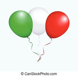 Balloons in Vector as Flag - Balloons in Vector Green White...