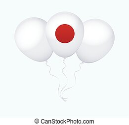 Balloons in Vector as Flag - Balloons in Vector as Japan...