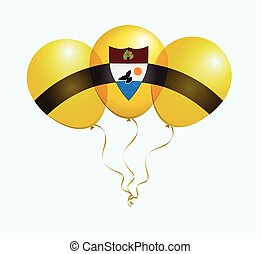 Balloons in Vector as flag - Balloons in Vector as Liberland...
