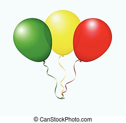 Balloons in Vector as flag - Balloons in Vector as Mali...