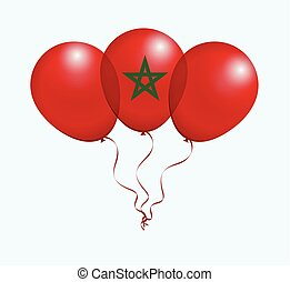 Balloons in Vector as flag - Balloons in Vector as Morocco...