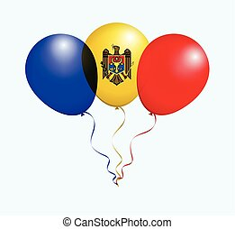 Balloons in Vector as flag - Balloons in Vector as Moldova...