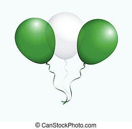 Balloons in Vector as flag - Balloons in Vector as Nigeria...