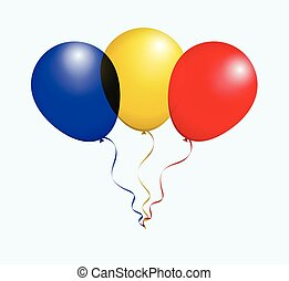 Balloons in Vector as flag - Balloons in Vector Blue Yellow...