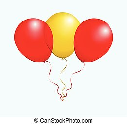 Balloons in Vector as flag - Balloons in Vector Red Yellow...
