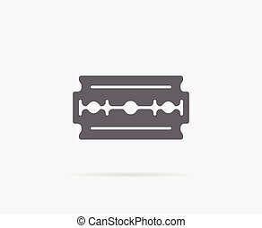 Razor Blade Old Double Edge Vector Element or Icon,...