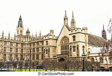 Westminster palace in London, Great Britain, cultural...