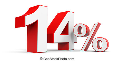 Discount 14 percent off 3D illustration