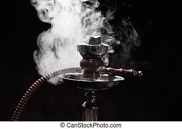still life shisha equipment and smoke - still life smoking...