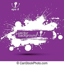 Colored modern vector acrylic wallpaper, eps8 blob seamless...