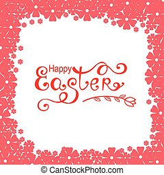 Easter pink flowers card