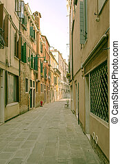 Italy. Florence. A narrow street in the city