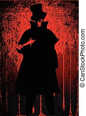 Jack the Ripper Blood Background - Jack the Ripper over a...