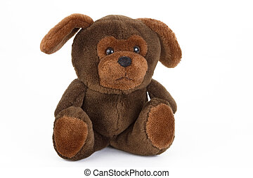 Plush Toy - Brown plush toy on bright background