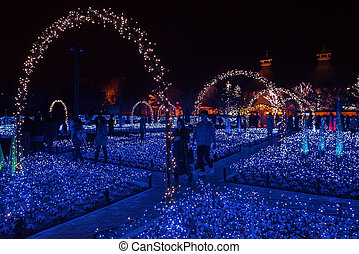 Nabana no sato winter illumination - Mie, Japan - 23...