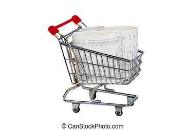 Shopping Trolley with sales receipt