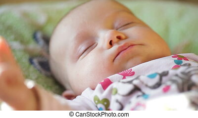 beautiful sleeping baby - close-up portrait of a beautiful...