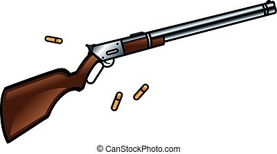 Winchester rifle gun - Winchester rifle is a gun for true...