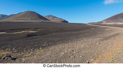 Barren Berserkjahraun - Barren lava field, resembling a...
