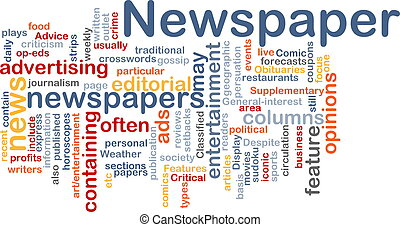 Newspaper news background concept - Background concept...