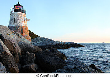 Lighthouse - Castle Hill Lighthouse in Newport Rhode Island