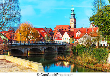 Lauf an der Pegnitz, Germany - Scenic spring view of the Old...