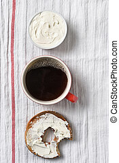Bagel Coffee Cream Cheese Crock - A bagel with cream cheese...