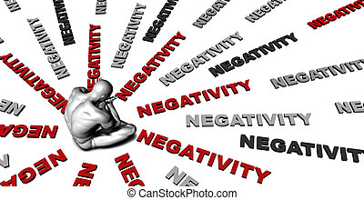 Negativity - Suffering From Negativity with a Victim Crying...