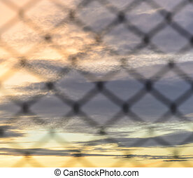 Abstract background of wire mesh - Sunset background with...