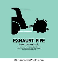 Cars Exhaust Pipe - Cars Exhaust Pipe Vector Illustration...