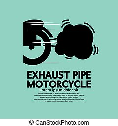 Exhaust Pipe Motorcycle. - Exhaust Pipe Motorcycle Vector...