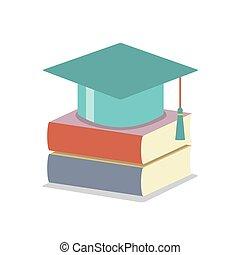 Mortarboard With Books - Mortarboard With Books Education...