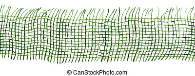 Close up of green gauze - Extreme close up of green gauze or...