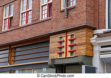 Part of old house in the historic centre of Haarlem, the...