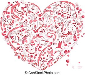 lovely floral heart for your design