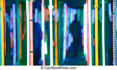 Glowing mirror maze - Someone lost in the mirror maze with...